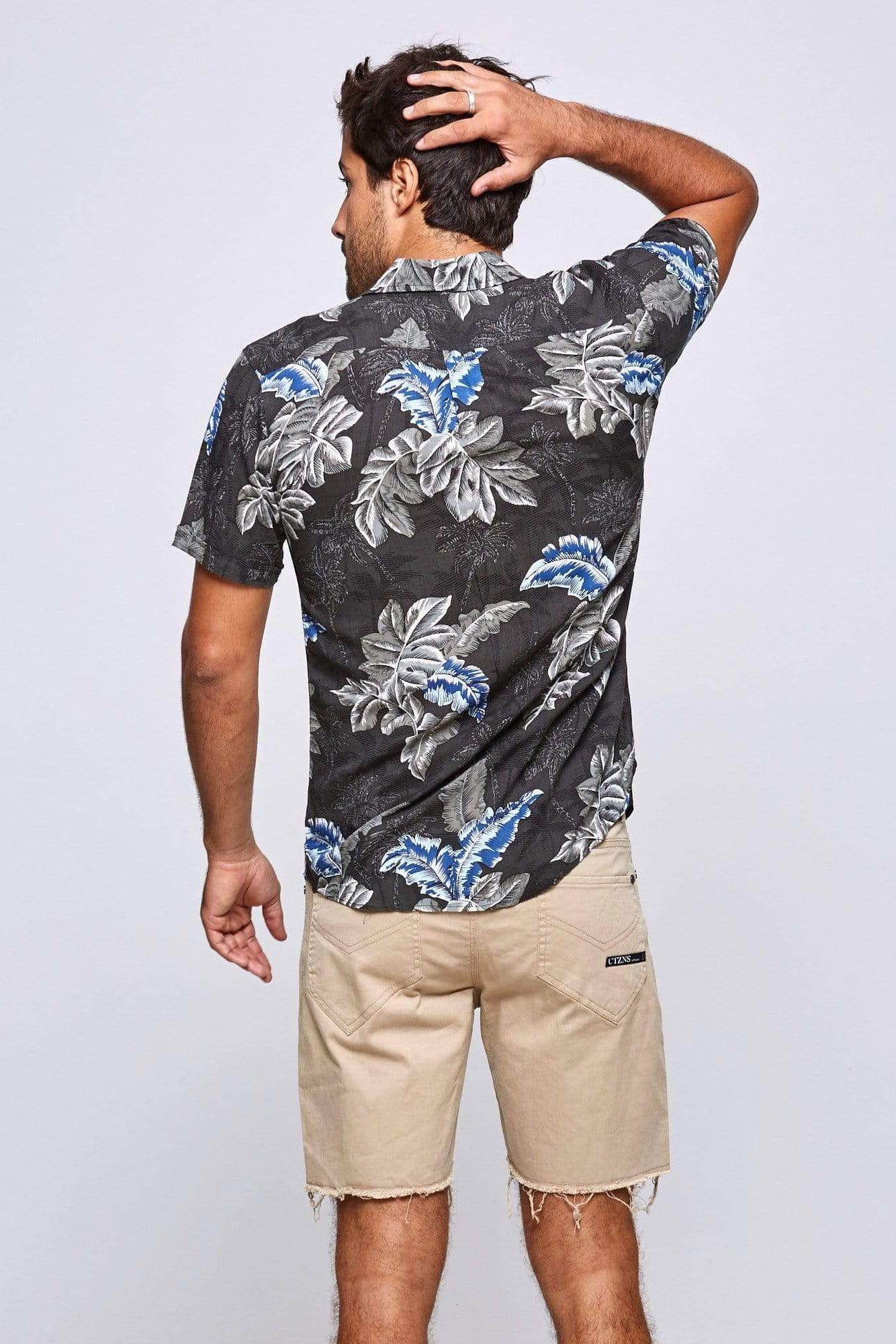 Black Tropical Shirt - Man Shirt - LOST IN PARADISE