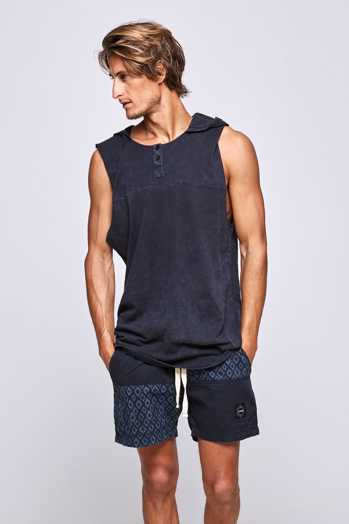 Dark Hood - Mens Muscle Tank - CITIZENS