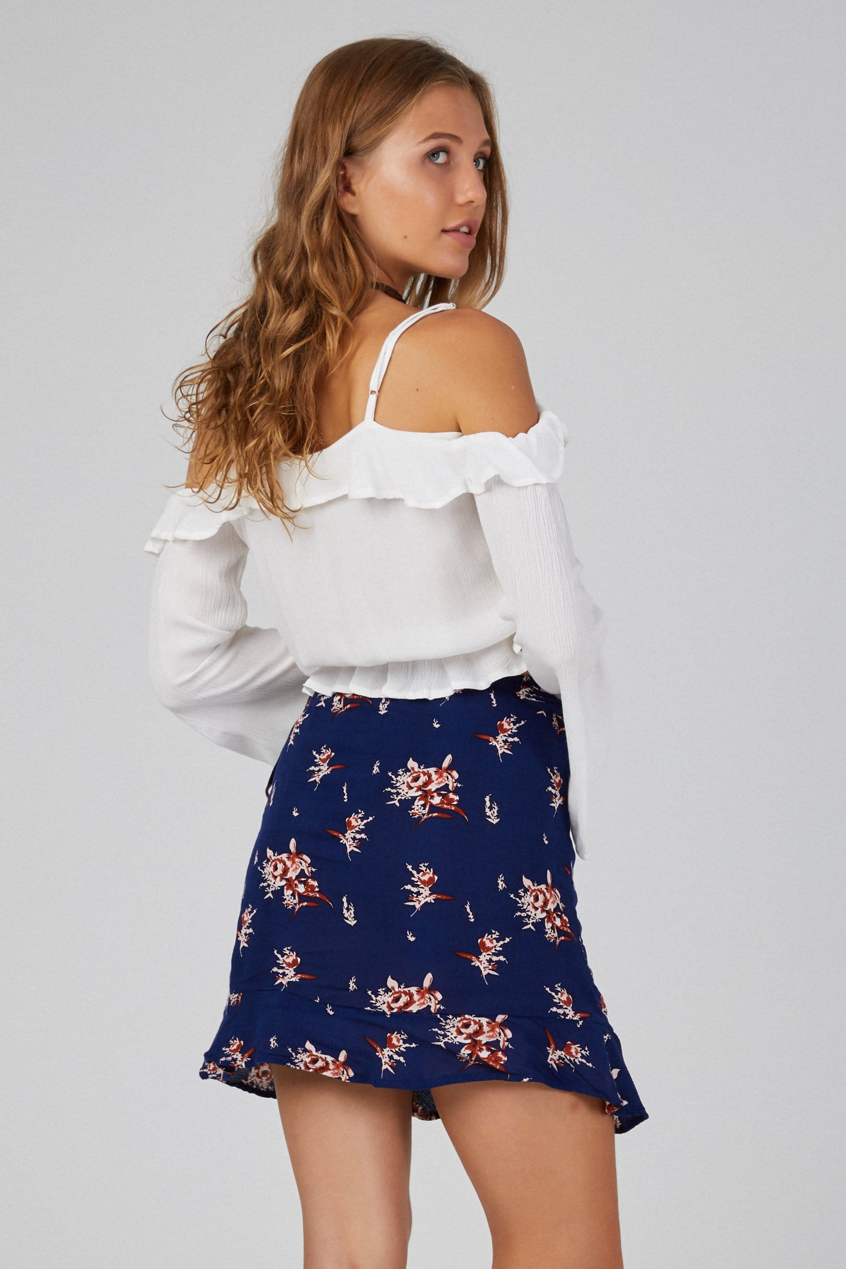 Frill Wrap Skirt - Skirt - LOST IN PARADISE