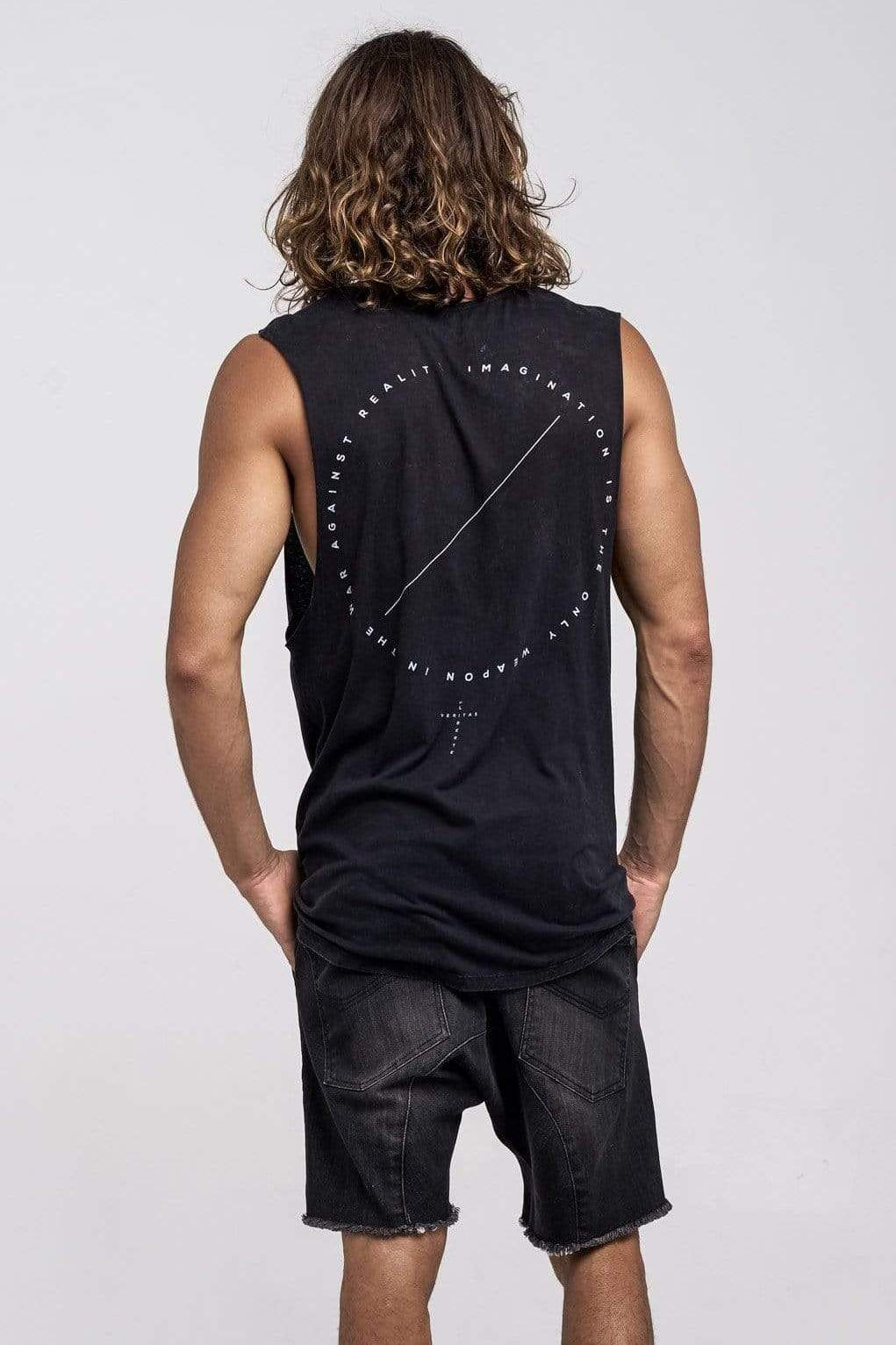 Lvm Truth Square - Mens Muscle Tank - VERITAS & LIBERTE