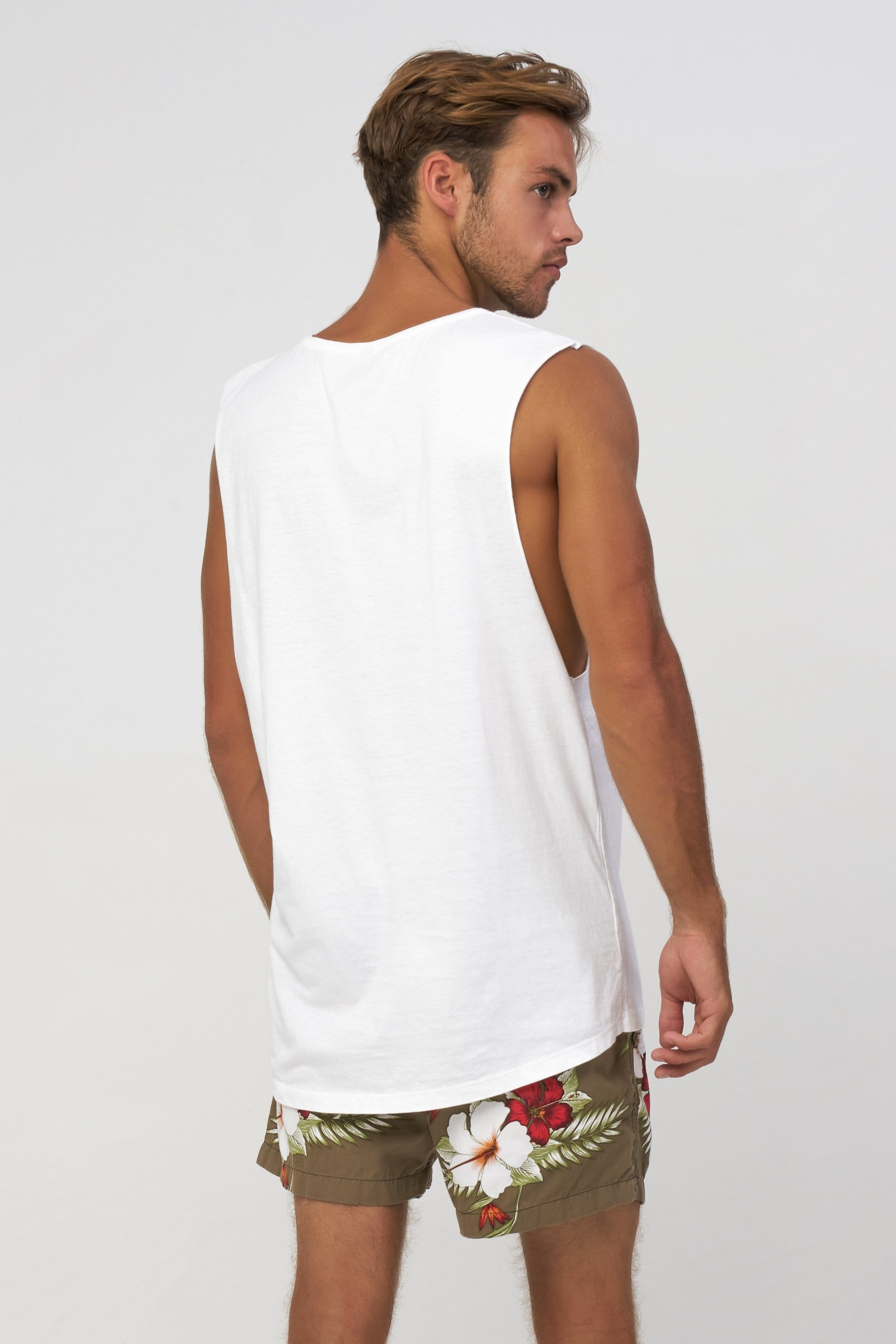 Sm Square Lost - Mens Muscle Tank - LOST IN PARADISE