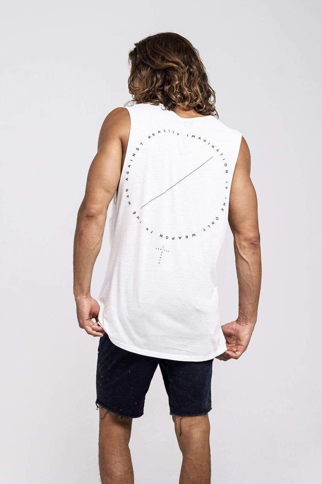 Lvm Imagination Reality - Mens Muscle Tank - VERITAS & LIBERTE