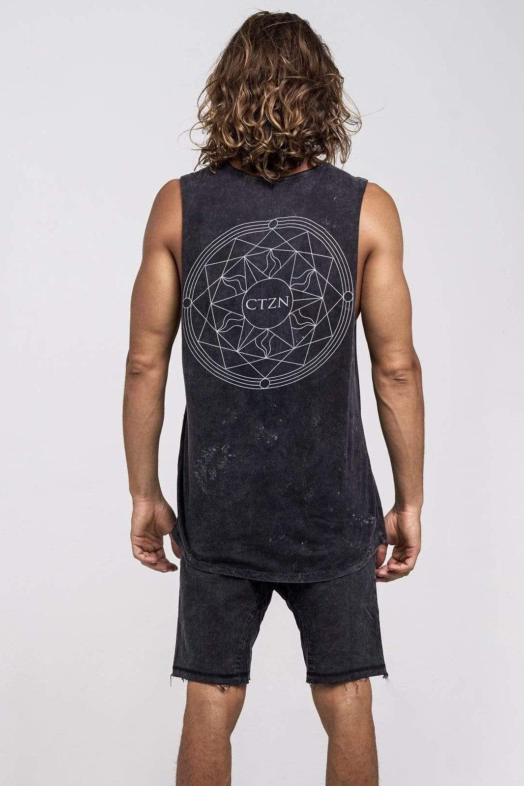 Ctzn Muscle Sun Star - Man Singlet - CITIZENS