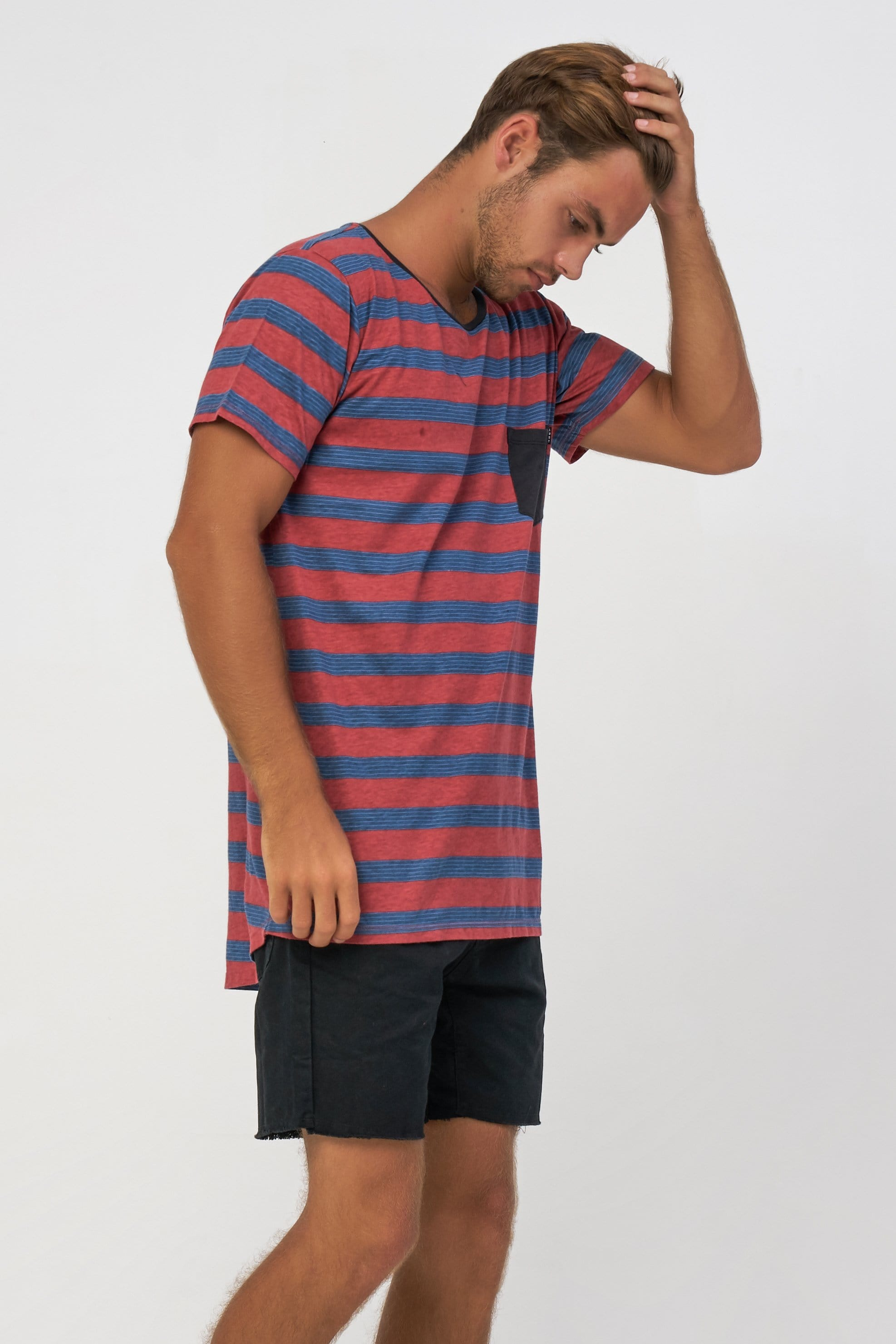 6 Stripe Tee - Man T-Shirt - LOST IN PARADISE