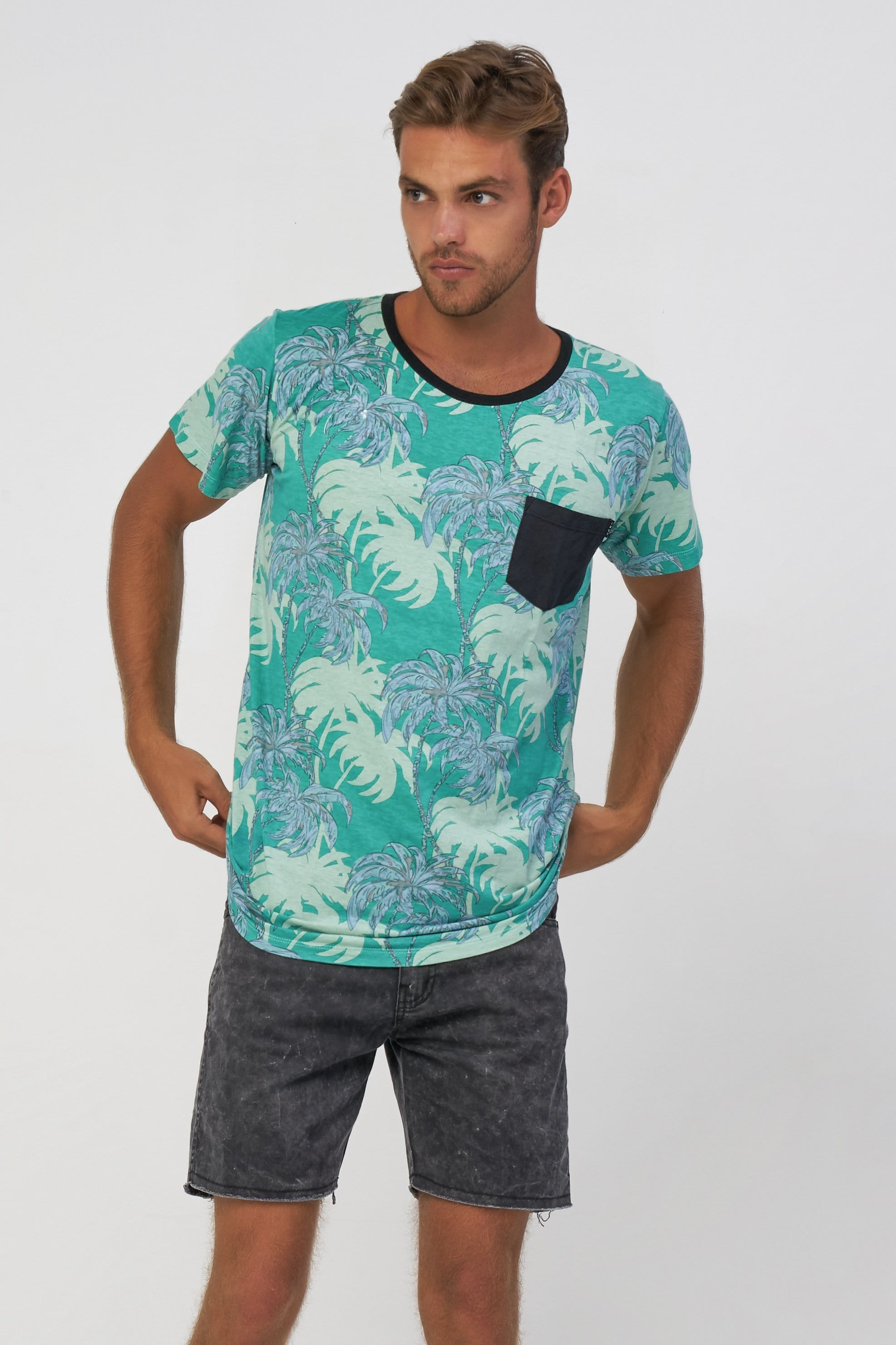 Ocean Palm Tee - Man T-Shirt - LOST IN PARADISE