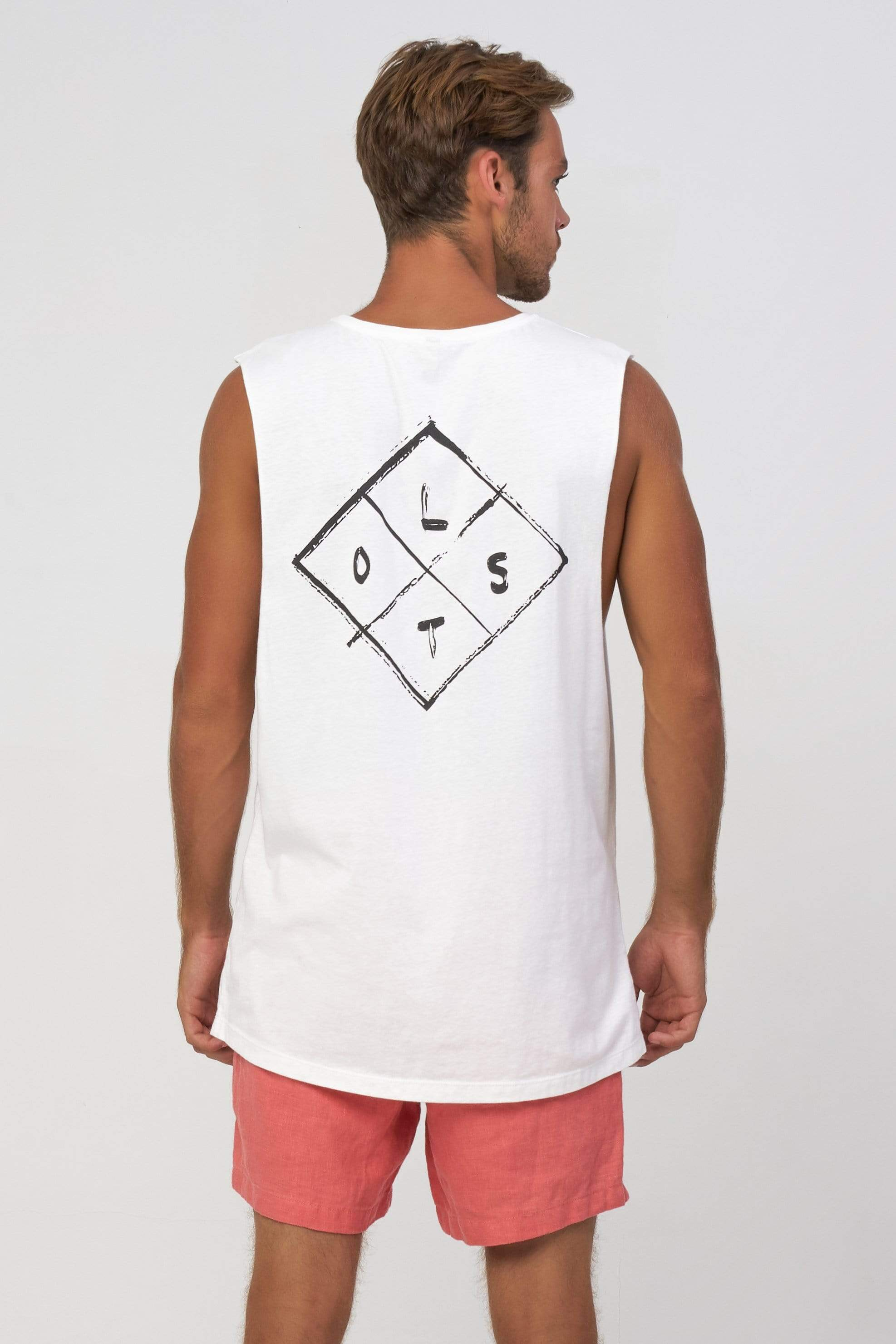 Sm Lost Diamond - Mens Muscle Tank - LOST IN PARADISE