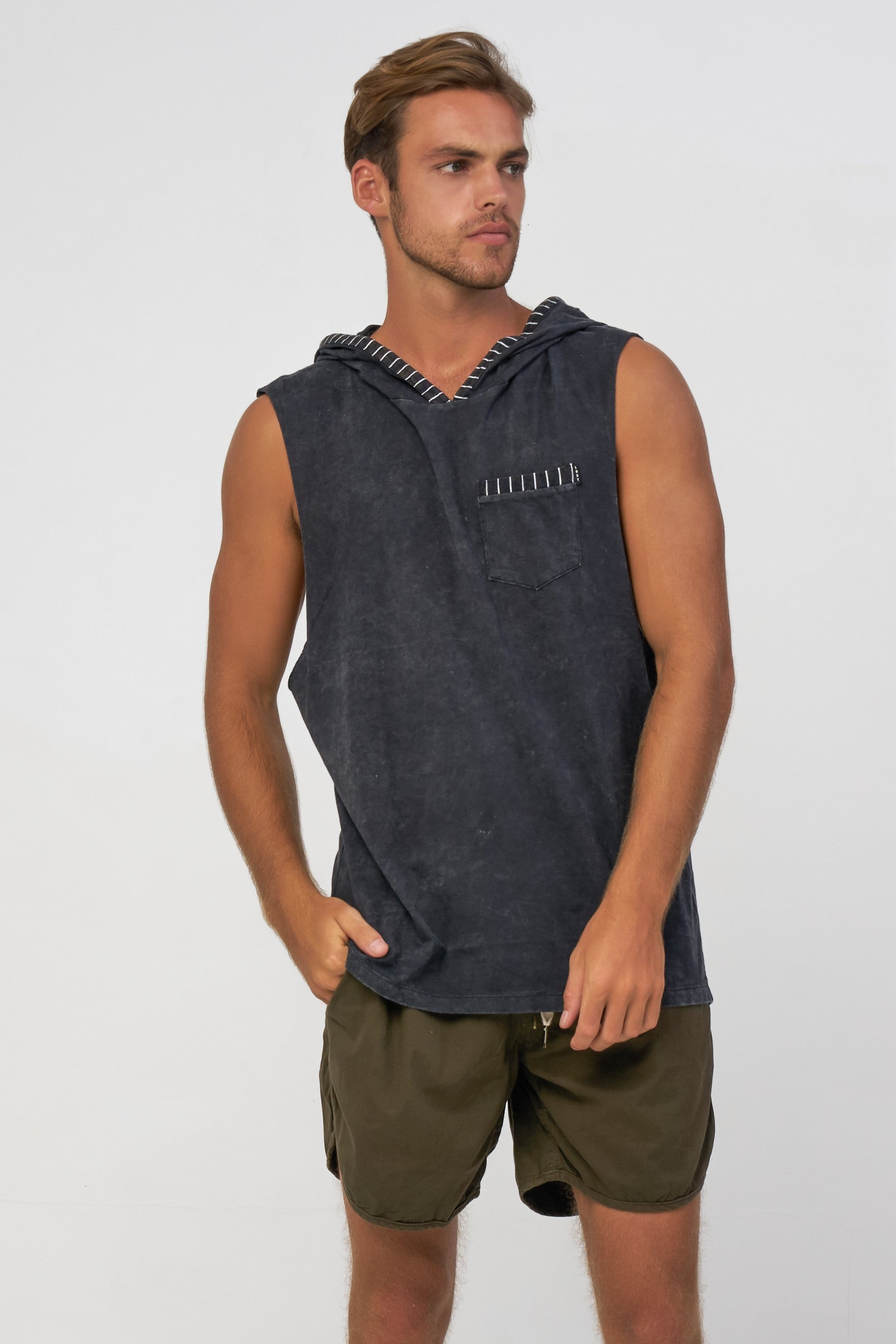 Line Hood - Mens Muscle Tank - LOST IN PARADISE