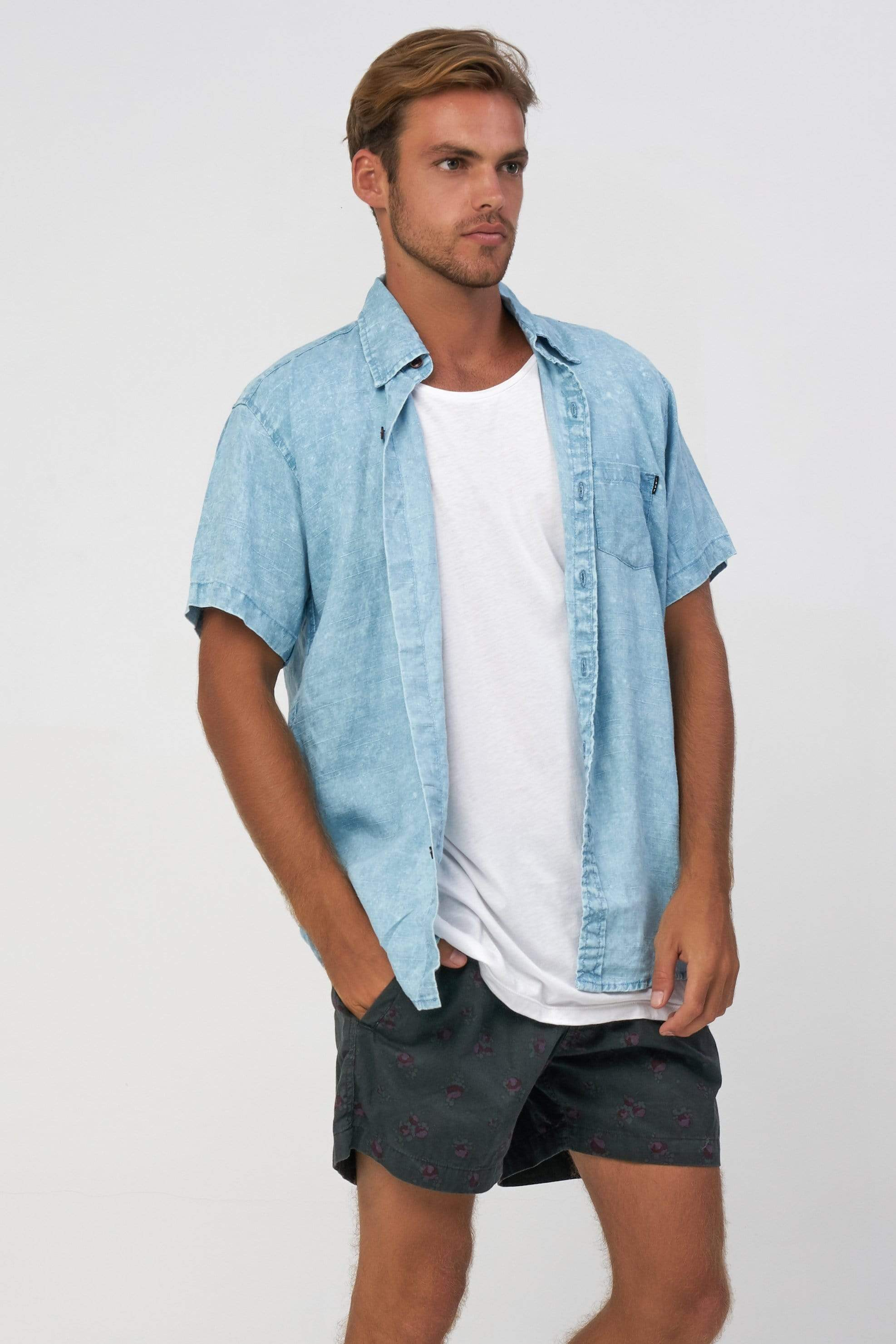 Linen Shirt - Man Shirt - LOST IN PARADISE