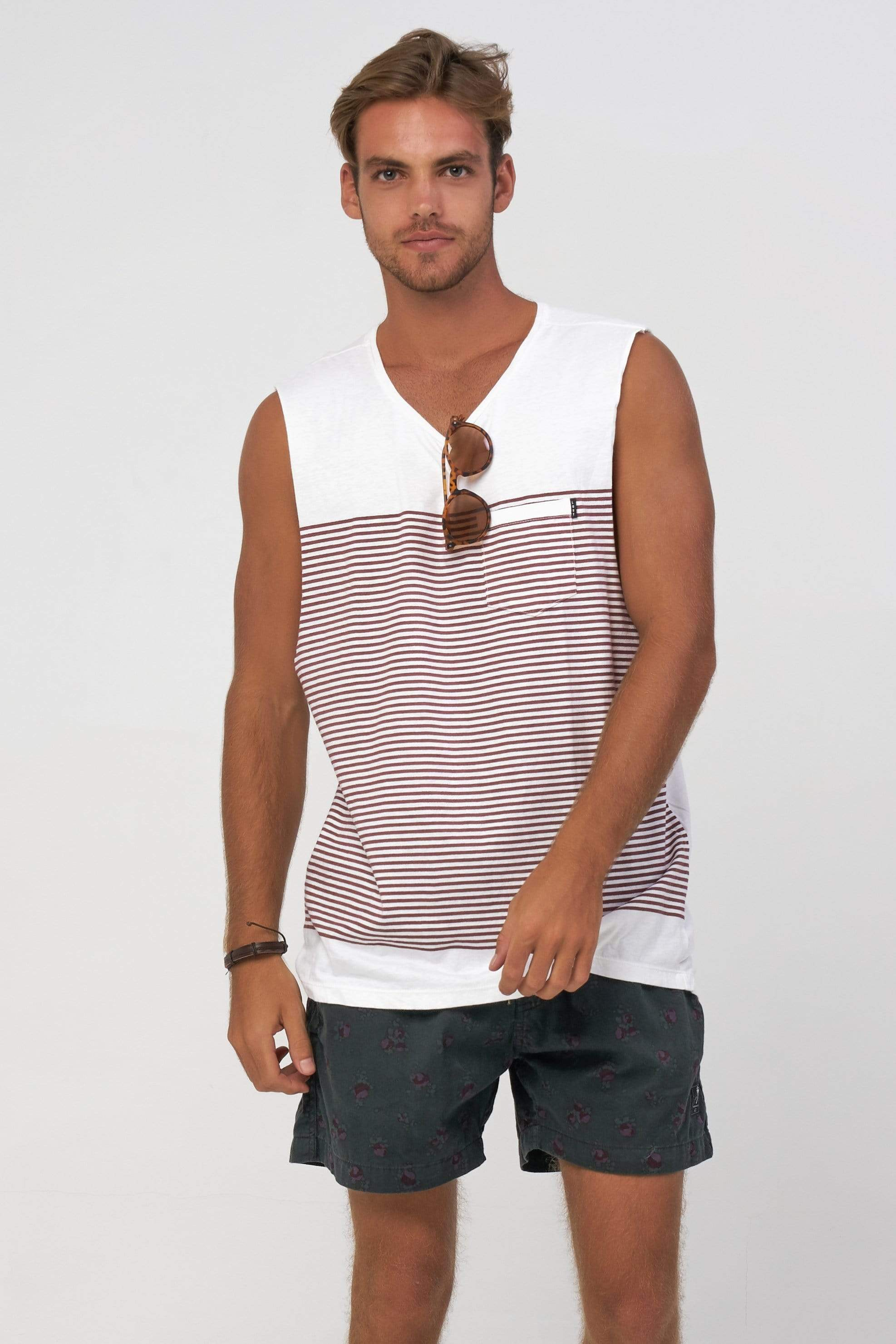 Ahoy Muscle - Mens Muscle Tank - LOST IN PARADISE