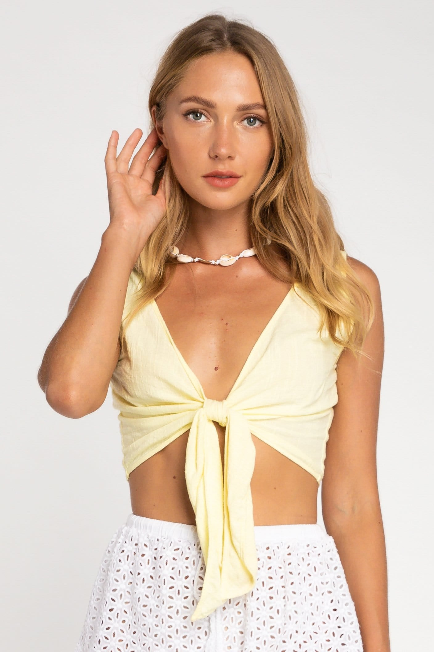 Sina Tie Top - Woman Top - LOST IN PARADISE