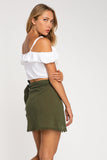FRAY WRAP SKIRT
