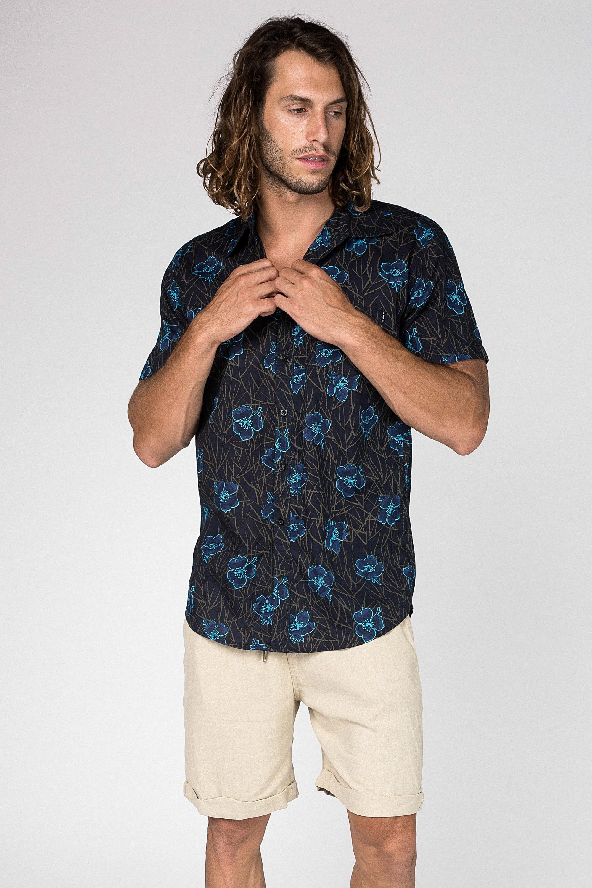 Electric Bloom Shirt - Man Shirt - LOST IN PARADISE
