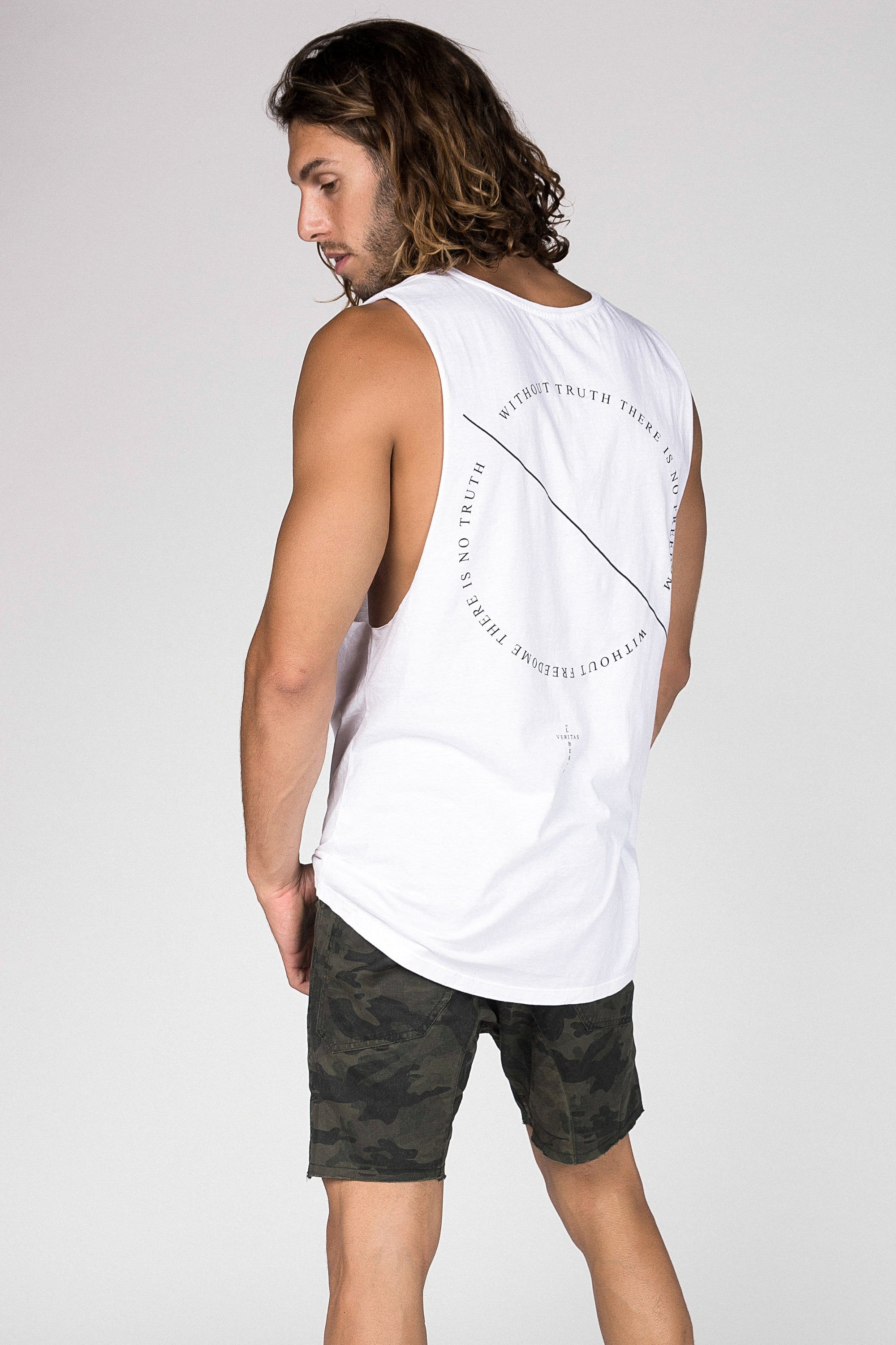 Lvm Without Truth Circle - Mens Muscle Tank - VERITAS & LIBERTE