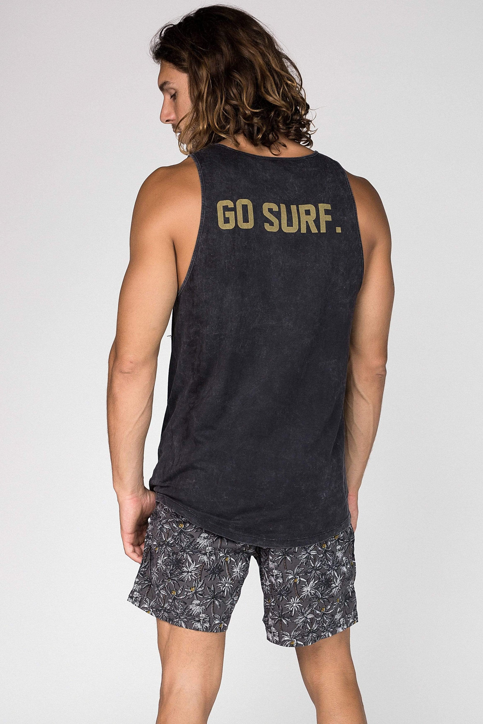 Sing Go Surf - Mens Muscle Tank - LOST IN PARADISE