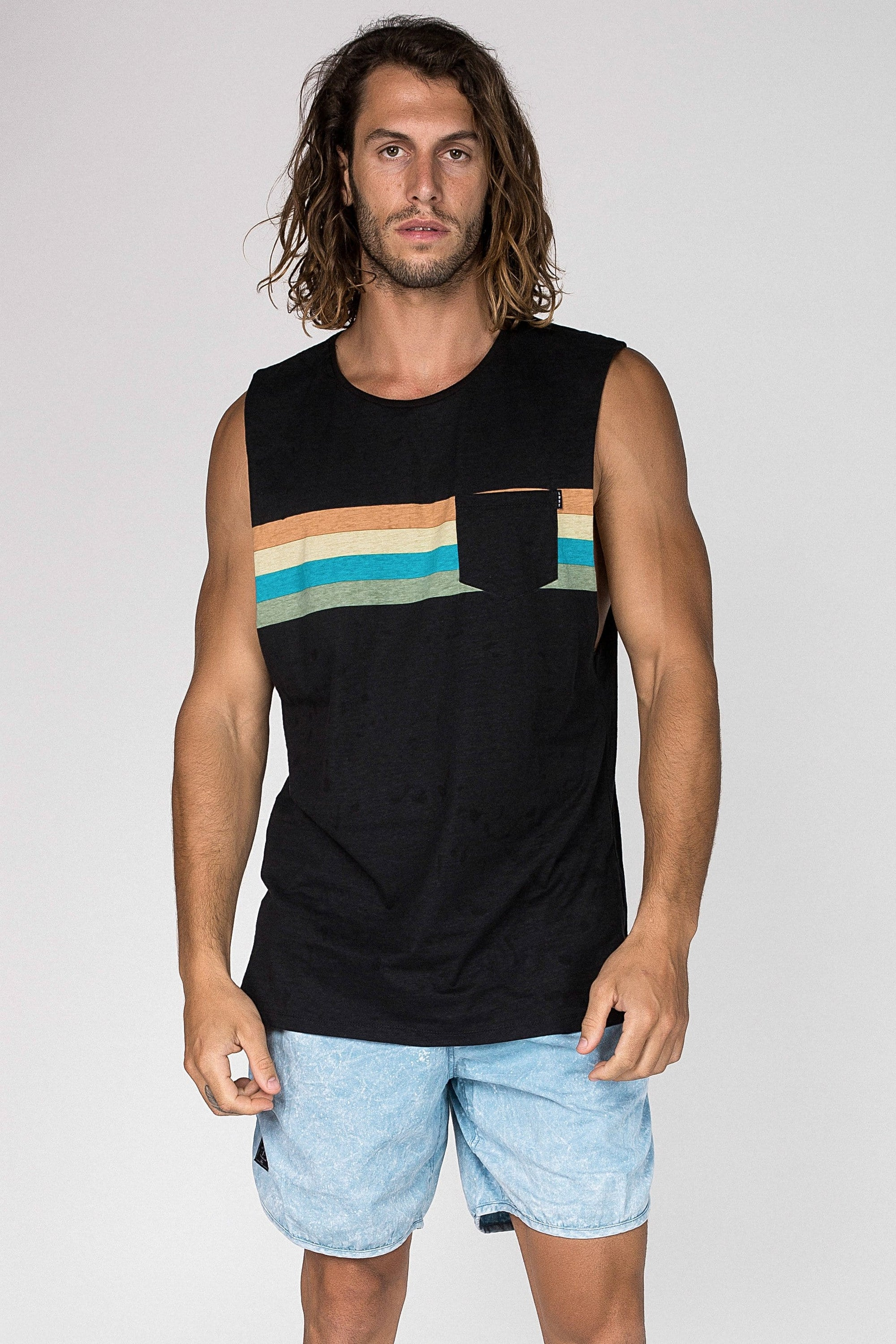 Graded Muscle - Mens Muscle Tank - LOST IN PARADISE