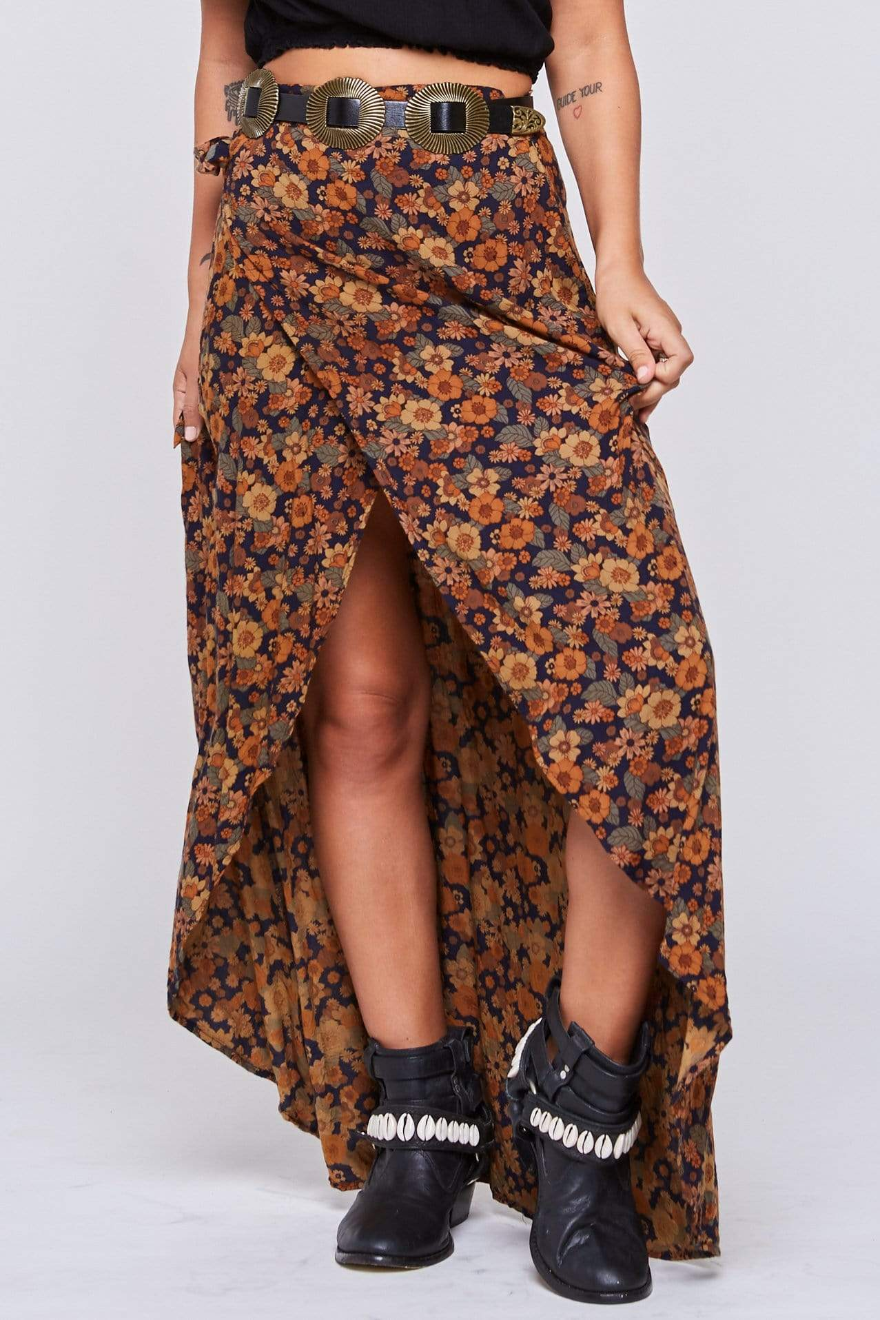 Wrap Maxi Skirt - Skirt - LOST IN PARADISE
