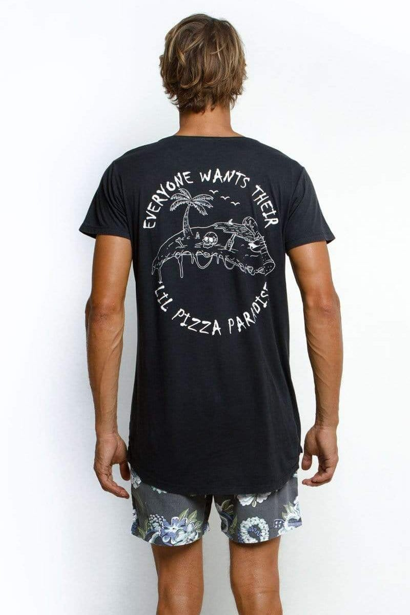 Ts Pizza Paradise - Man T-Shirt - LOST IN PARADISE