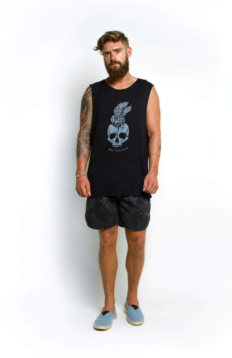 Lvm Free Your Mind - Mens Muscle Tank - VERITAS & LIBERTE