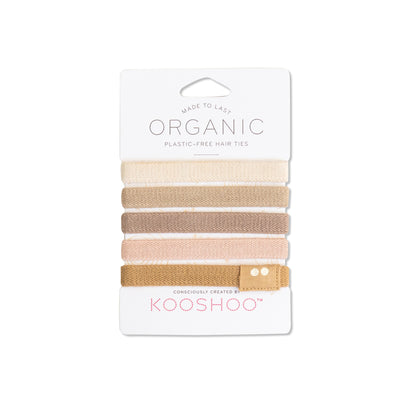 Organic Hair Ties in Blond