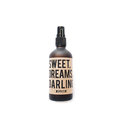 Front facing product image of Sweet Dreams Darling aromatherapy mist. Available for purchase on The Conservationist.