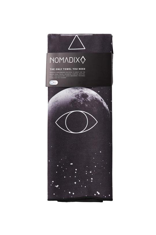 Packaged Moon Phase towel. Available for purchase at The Conservationist.