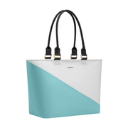 Virginia Tote Turquoise Wedge