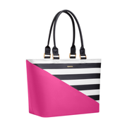Virginia Tote Pink Stripe