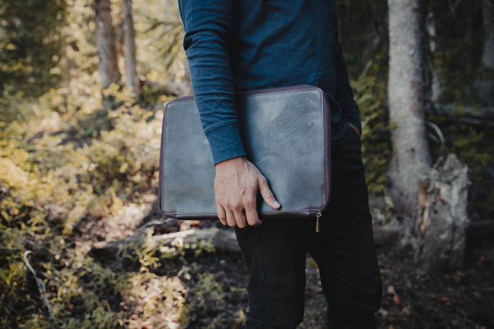 Buffalo Leather MacBook Portfolio