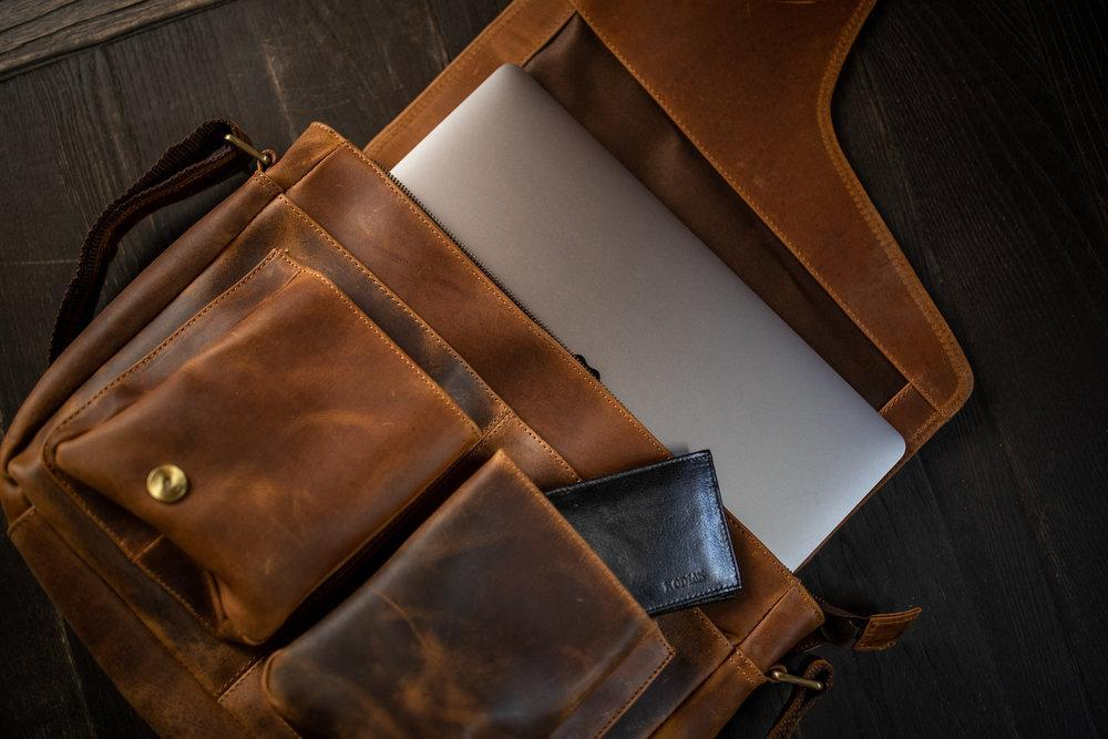Buffalo Leather Messenger