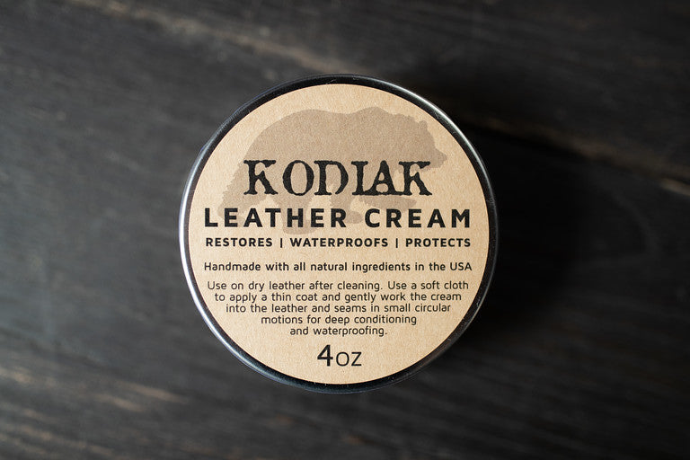 Kodiak Leather Cream - 4 oz. Tin