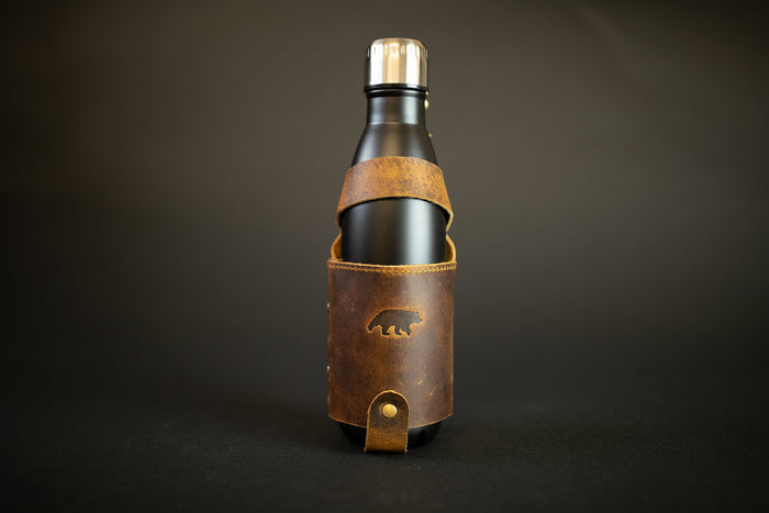 Leather Water Bottle Holder