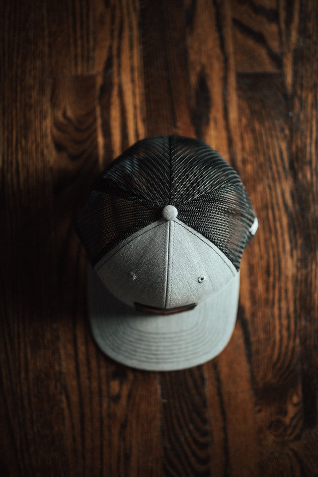 Kodiak Snapback Leather Patch Hat