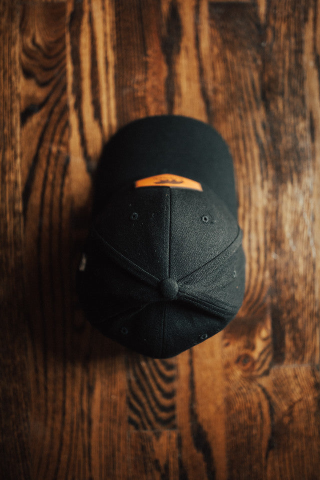Kodiak Flexfit Leather Patch Hat - Black