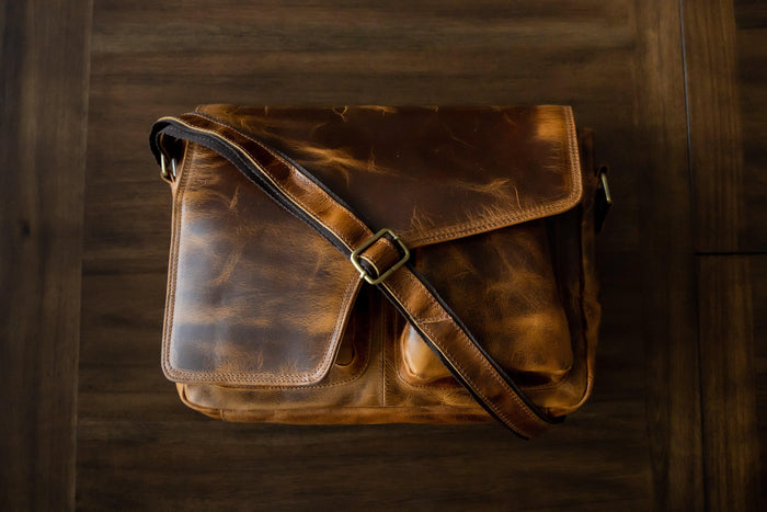 Buffalo Leather Messenger *Back-order*