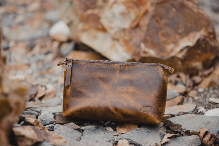 Leather Makeup Pouch