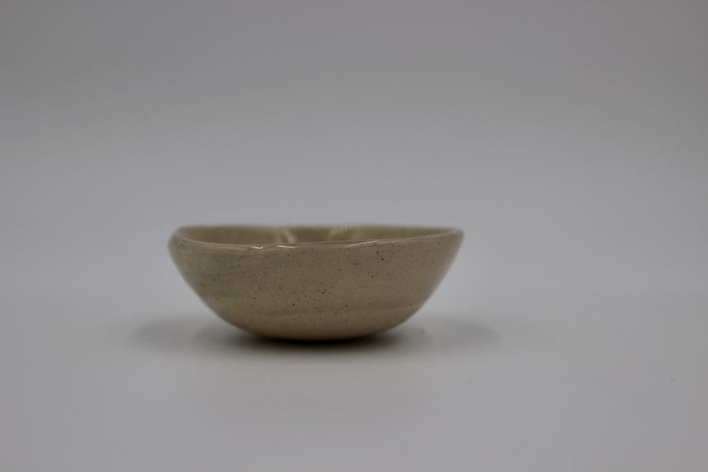 Small Salt Dish In Pale Grey Wash