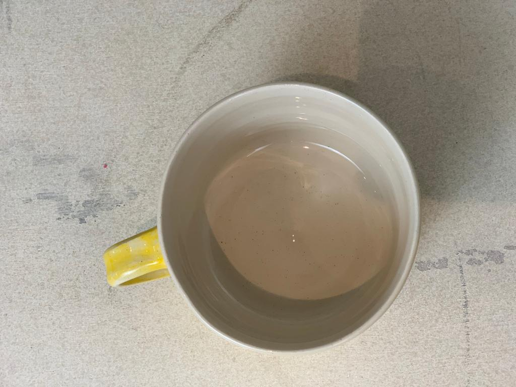 Squat Style Ceramic Mug In A Yellow Wash
