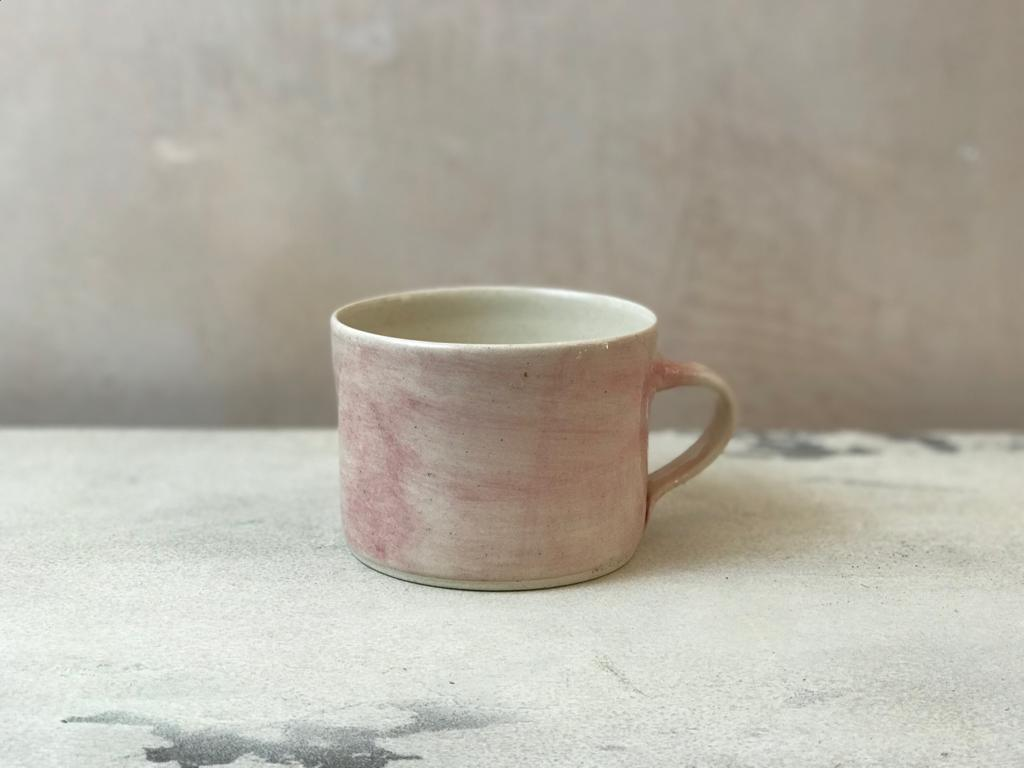 Squat Style  Mug In A Pink Wash
