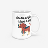 Durable Digitally Printed Mug | Lettered with A Message- I'm not single dog | Great Funny Gift Idea - ccaffeinated