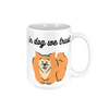 "Put Charm in Your Drink with Printed Coffee Mug, Lettered-""in dog we trust"" - ccaffeinated"