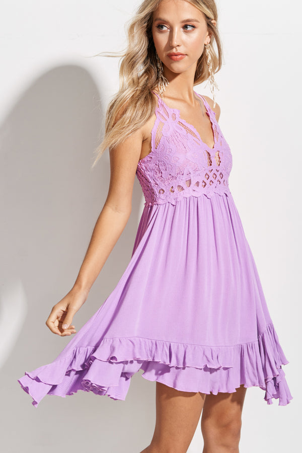 Isabelle Lavender Breeze Slip Dress