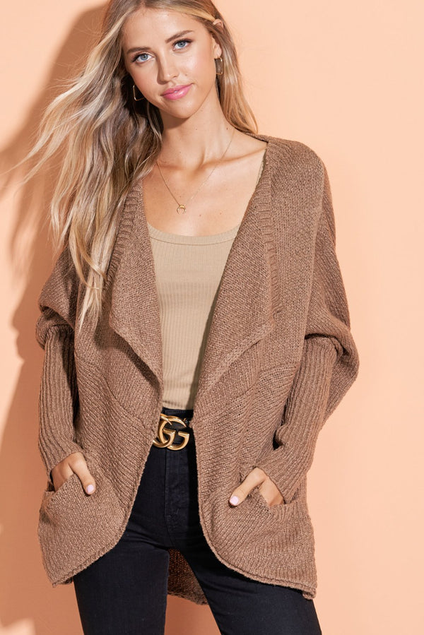 Makenna Mocha Brown Well Rounded Cardi