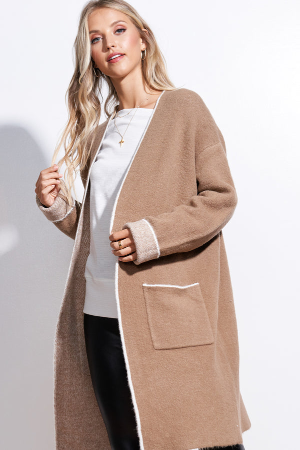 Meredith Mocha Brown Cardigan
