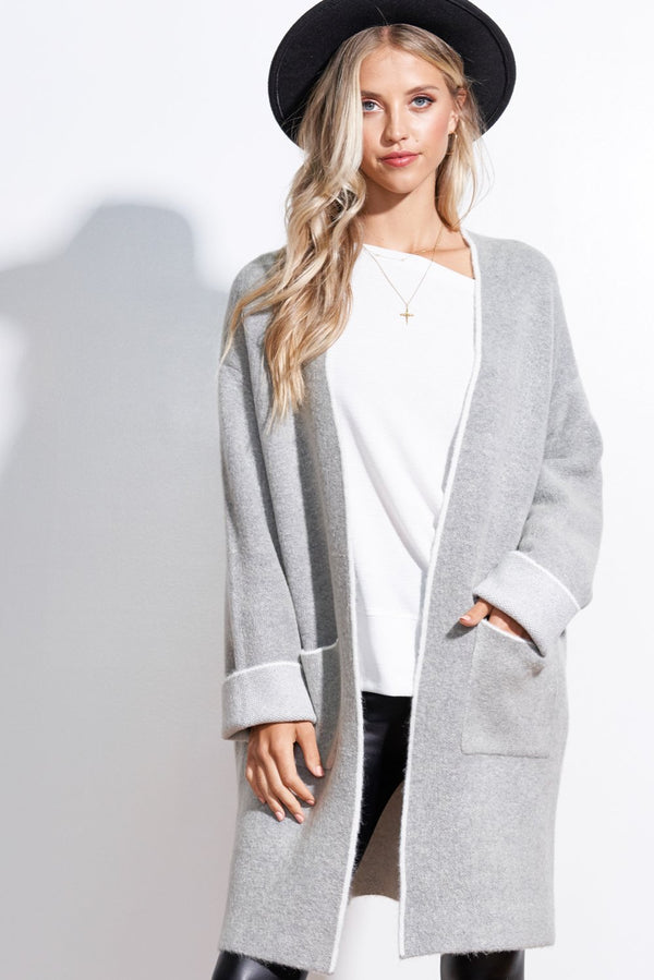 Meredith Heather Grey Cardigan
