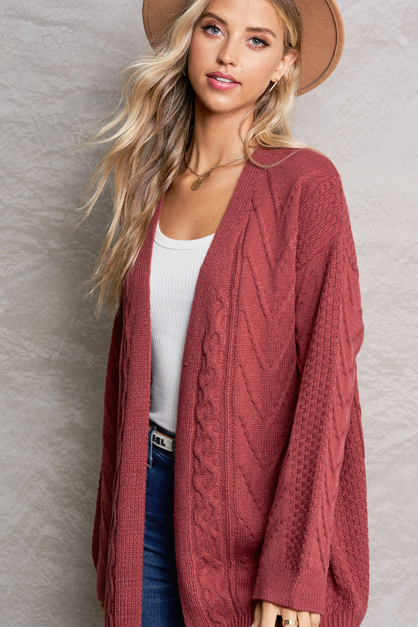 Brielle Marsala Red Bonfire Cardi