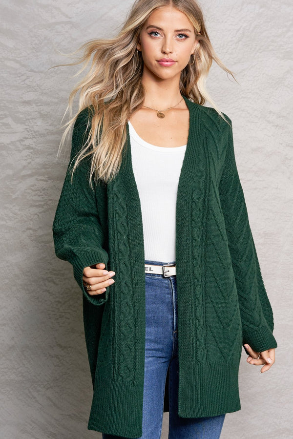 Brielle Hunter Green Bonfire Cardi