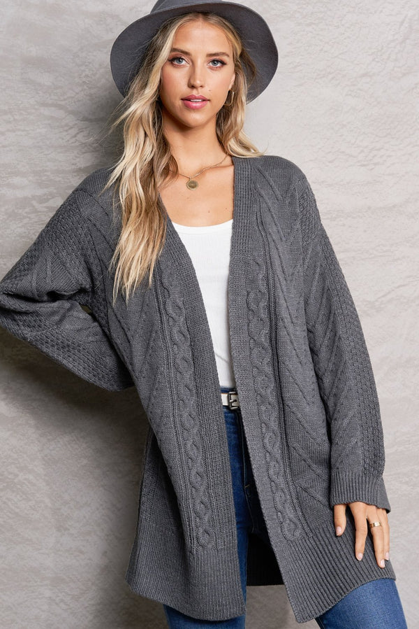 Brielle Charcoal Grey Bonfire Cardi