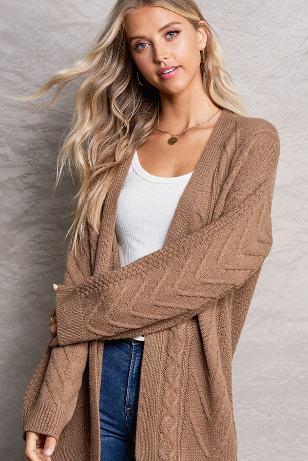 Brielle Mocha Brown Bonfire Cardi