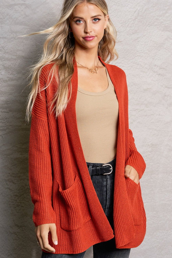 Harper Crimson Red Lightweight Knit Cardi