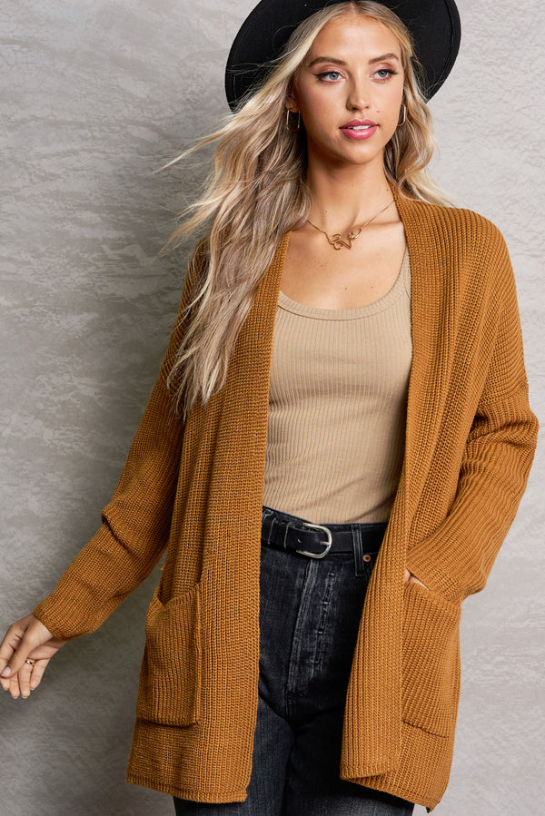 Harper Dijon Brown Lightweight Knit Cardi